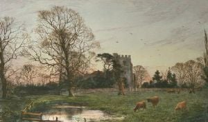 Little Stanmore Church (Restrike Etching) by Frederick Albert Slocombe