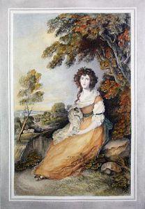 Mrs Sheridan (Restrike Etching) by Anonymous