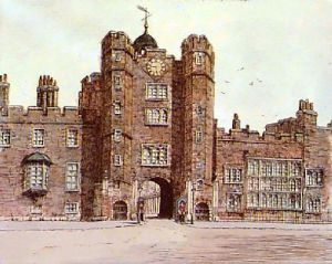 St. James Palace (Restrike Etching) by Dorothy Sweet