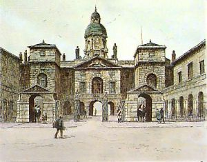 Horse Guards (Restrike Etching) by Dorothy Sweet