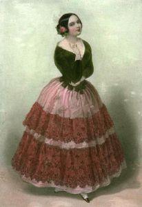 La Cantatrice (Restrike Etching) by A. de Valentini