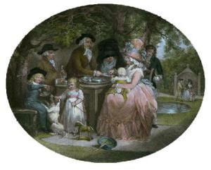 Tea Garden (Restrike Etching) by George Morland
