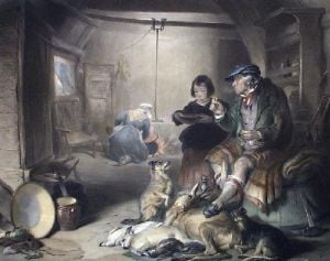 Highland Cottage (Restrike Etching) by Sir Edwin Henry Landseer