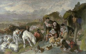 Highland Drovers (Restrike Etching) by Sir Edwin Henry Landseer