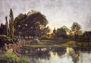 Tranquil Evening (Restrike Etching) by Anonymous