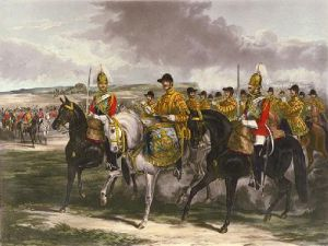Band of the Life Guards (Restrike Etching) by Henry Martens