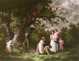 Birdnesting (Restrike Etching) by George Morland