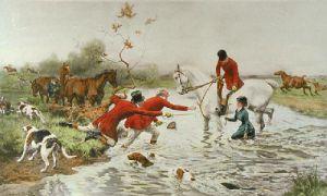 Three Offers (Restrike Etching) by Alfred William Strutt