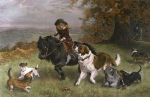 Scratch Pack, A (Restrike Etching) by Charles Burton Barber