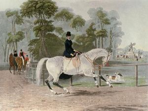 Ladies Mile (Restrike Etching) by Francis Calcraft Turner
