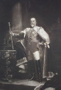 King Edward Vll (Restrike Etching) by Sir Samuel Luke Fildes