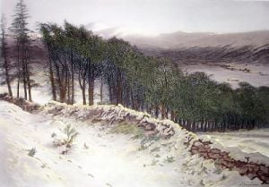 Where Winter Holds its Sway (Restrike Etching) by Joseph Farquharson