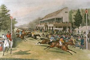 Goodwood Grandstand 1853 (Restrike Etching) by Anonymous