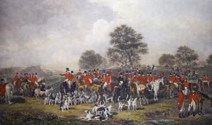 Cheshire Hunt (Restrike Etching) by Henry Calvert