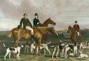 Heythorpe Hunt (Restrike Etching) by Stephen Pearce