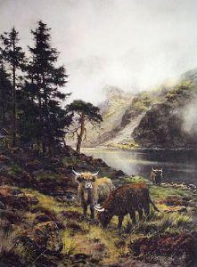 Pass of Brander (Restrike Etching) by Walter Hunt