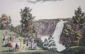 Falls of Montmorency (Restrike Etching) by L. Col Cockburn