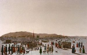 Ice Pont (Quebec) (Restrike Etching) by L. Col Cockburn