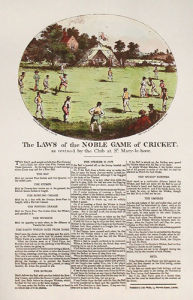 The Rules of Cricket (Restrike Etching) by Anonymous