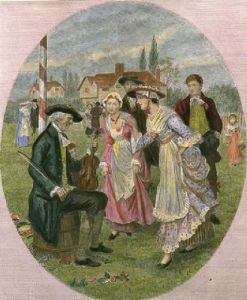 Twas the Fiddler that Played it Wrong (Restrike Etching) by Randolph Caldecott