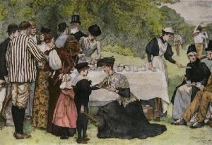 Tea At Wimbledon (Restrike Etching) by Edward Brewtnall
