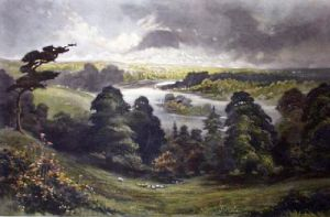 View From Richmond Hill (Restrike Etching) by Anonymous