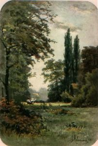 Kew Gardens - Plate 3 (Restrike Etching) by Georgina M De L'Aubiniere