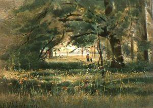 Kew Gardens - Plate 9 (Restrike Etching) by Georgina M De L'Aubiniere