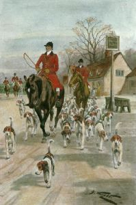Hunting Morning (Restrike Etching) by Wright