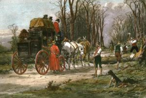 Mails Delayed (Restrike Etching) by Wright