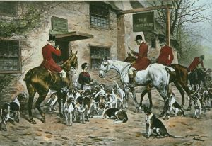After a Good Day (Restrike Etching) by Wright