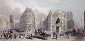 Bank of England,Royal Exchange (Restrike Etching) by T. Nixon
