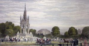 Albert Memorial, Hyde Park (Restrike Etching) by G.H. Andrews