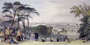 London from Greenwich Park (Restrike Etching) by Thomas Abiel Prior