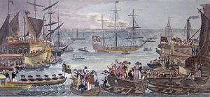 Greenwich to Scotland (Restrike Etching) by J. Fussell
