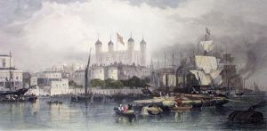Tower of London (Restrike Etching) by Edward Duncan