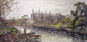 Eton College (Restrike Etching) by James Townshend
