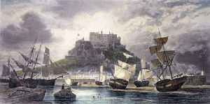 Mount Orgueil Castle, Jersey (Restrike Etching) by G.H. Andrews
