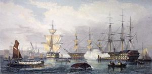 Sheerness in 1850 (Restrike Etching) by G.H. Andrews