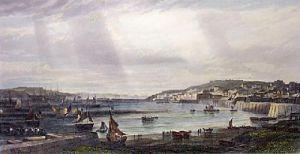Milford Haven & Docks (Restrike Etching) by Edward Duncan