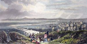 Holyhead (Restrike Etching) by G.H. Andrews