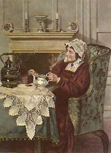 The Cup That Cheers (Restrike Etching) by Walter Dendy Sadler