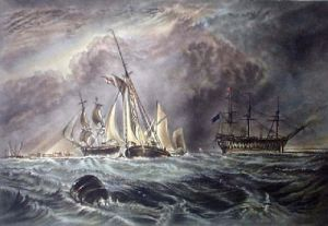 Off Sheerness (Restrike Etching) by Joseph Mallord William Turner