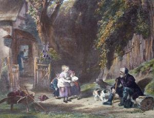 Rustic Hospitality (Restrike Etching) by William Collins