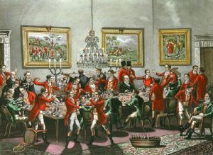 The Toast (Restrike Etching) by Francis Wheatley