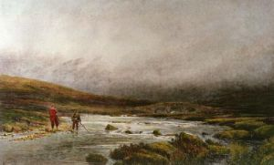 Trout Fishing (Restrike Etching) by Douglas Adams