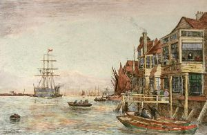 Gravesend (Restrike Etching) by Charles Edward Holloway
