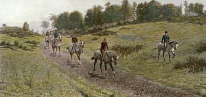Returning Home (Restrike Etching) by Harrington Bird