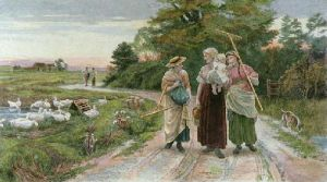 Haymakers (Restrike Etching) by Frederick Morgan