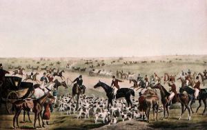 The Meet (Restrike Etching) by Henry Alken